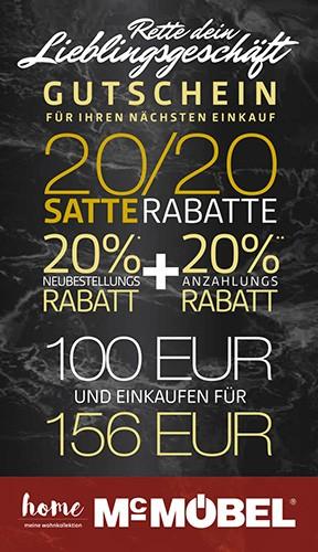 GUTSCHEIN 100 € im Wert von 156 €