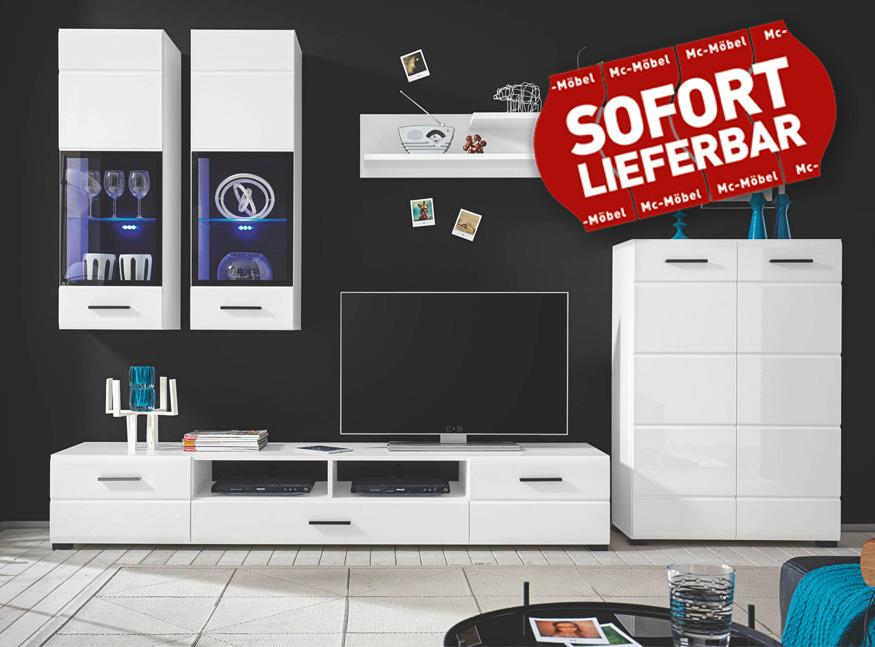 Wohnwand sofort lieferbar inspiration ber haus design for Schrankwand ohne fernsehteil