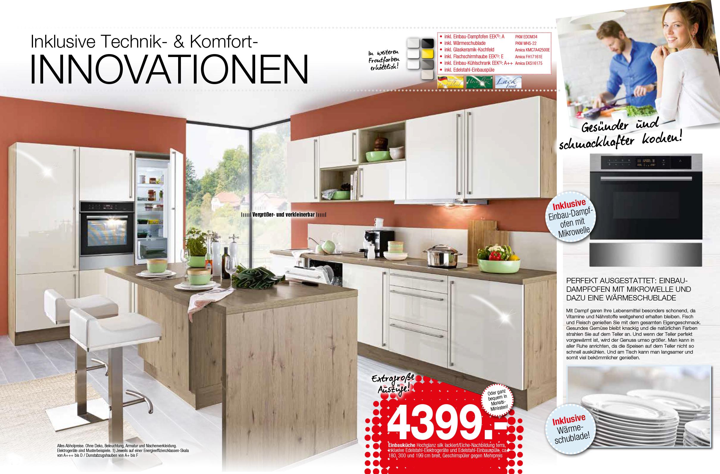 Amica Kühlschrank Einbau : Küche susann 12006
